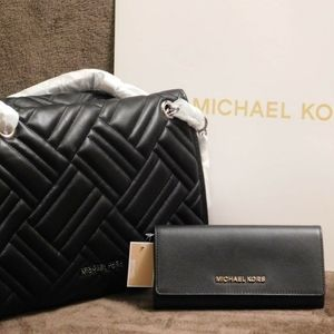 Michael Kors Kathy Large Quilted Leather Satchel